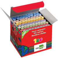 Dustless Chalk Assorted Clr 100 Piecs Bx