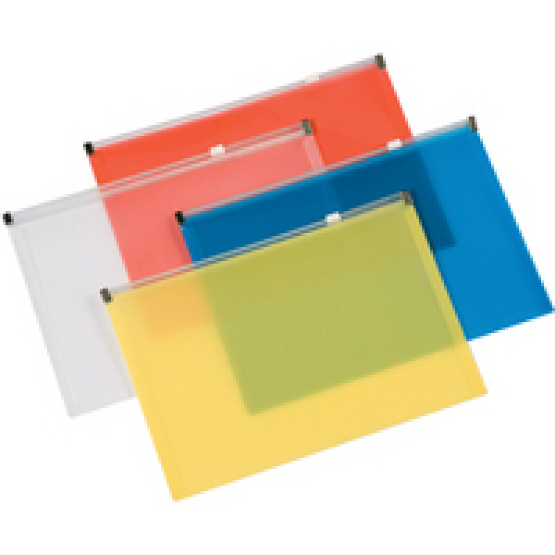 Qconnect Document Wallet With Zip A5 Assorted