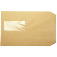 Q-Connect Pocket Envelope C5 Window 115gsm Manilla Peel and Seal Pk 500