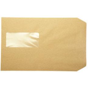 Q-Connect Pocket Envelope C5 Window 115gsm Manilla Peel and Seal Pk 500