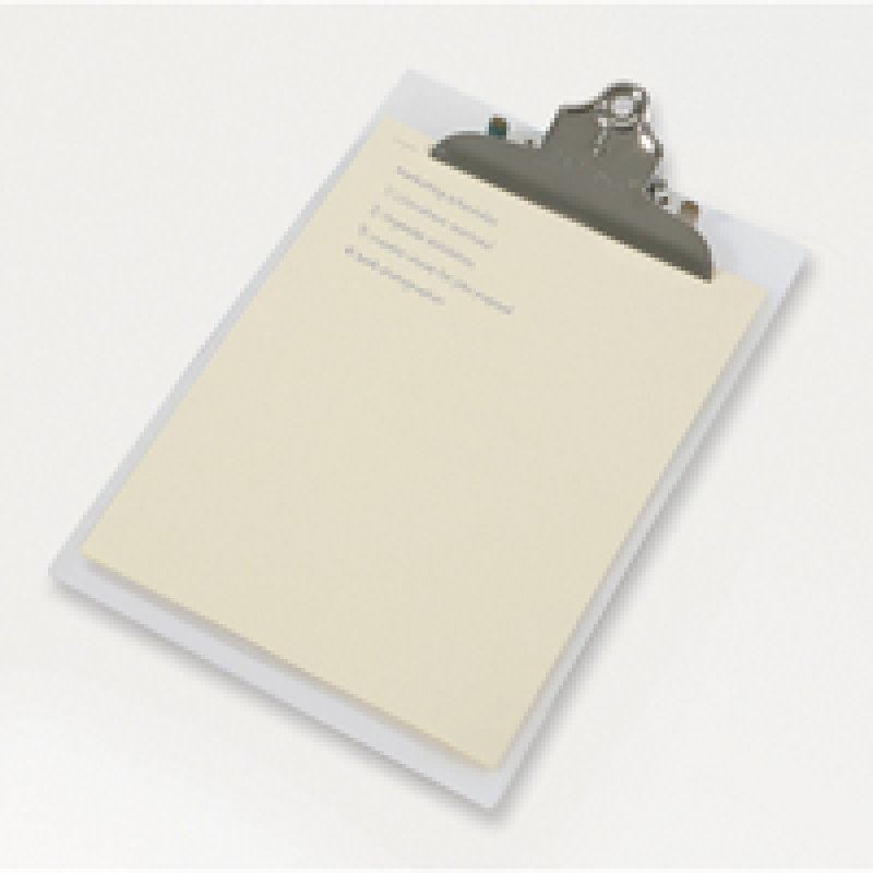 Rapesco Heavy Duty Frosted Transparent Clipboard Clear