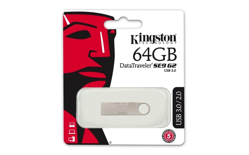 64GB Kingston DataTraveler SE9 G2 USB 3.0 Flash Drive