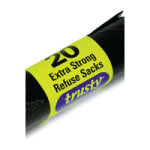 2Work Black Extra Strong Refuse Sacks (20 Rolls of 30)