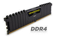Corsair Vengeance LPX 16GB (4x4GB) DDR4 DRAM 3000MHz C15 Memory Kit - Black