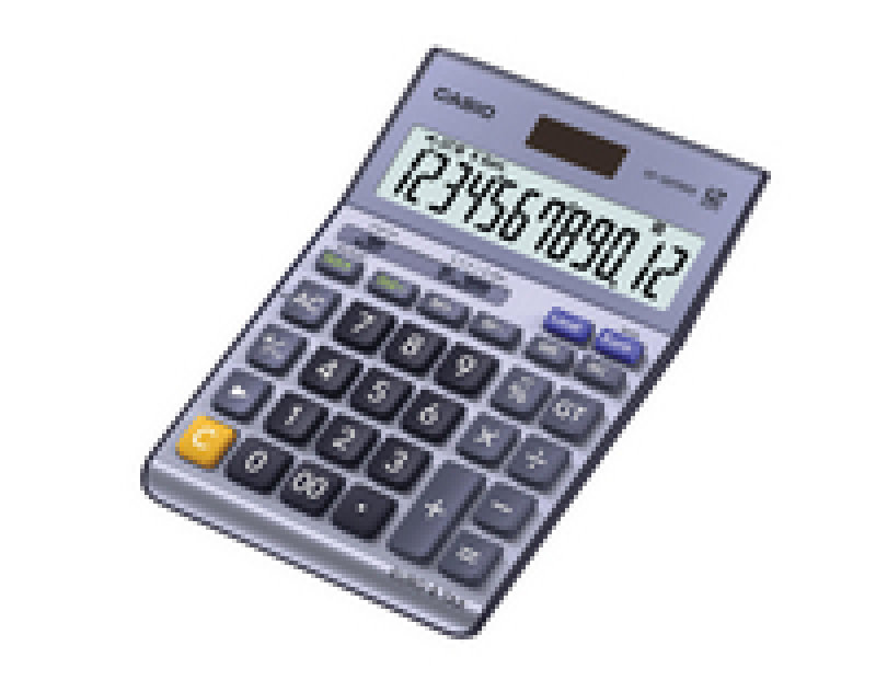 Casio Silver DF-120TERII Desktop Calculator