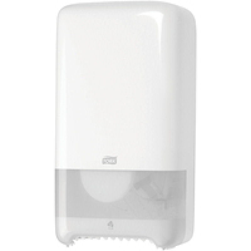 Tork Twin Mid Size-Toilet Roll Dispenser White