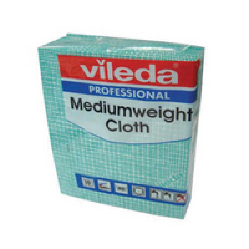 Vileda Green Medium Weight Cloth (Pack of 10)