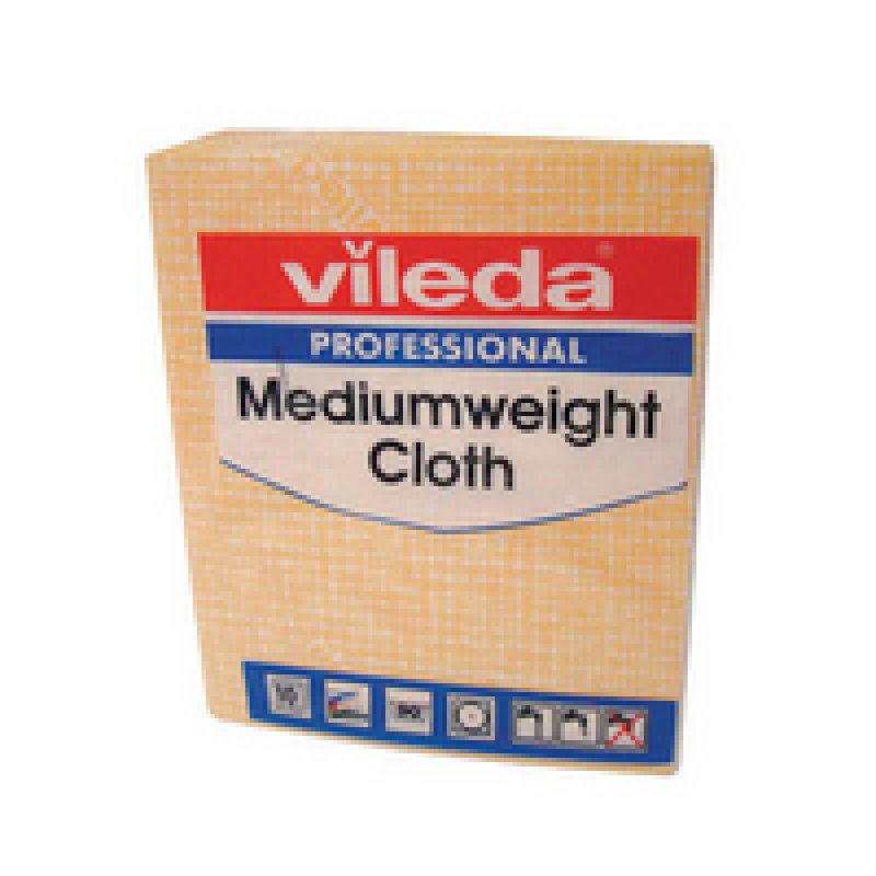 Vileda Medium Weight Cloth Yellow Pk 10