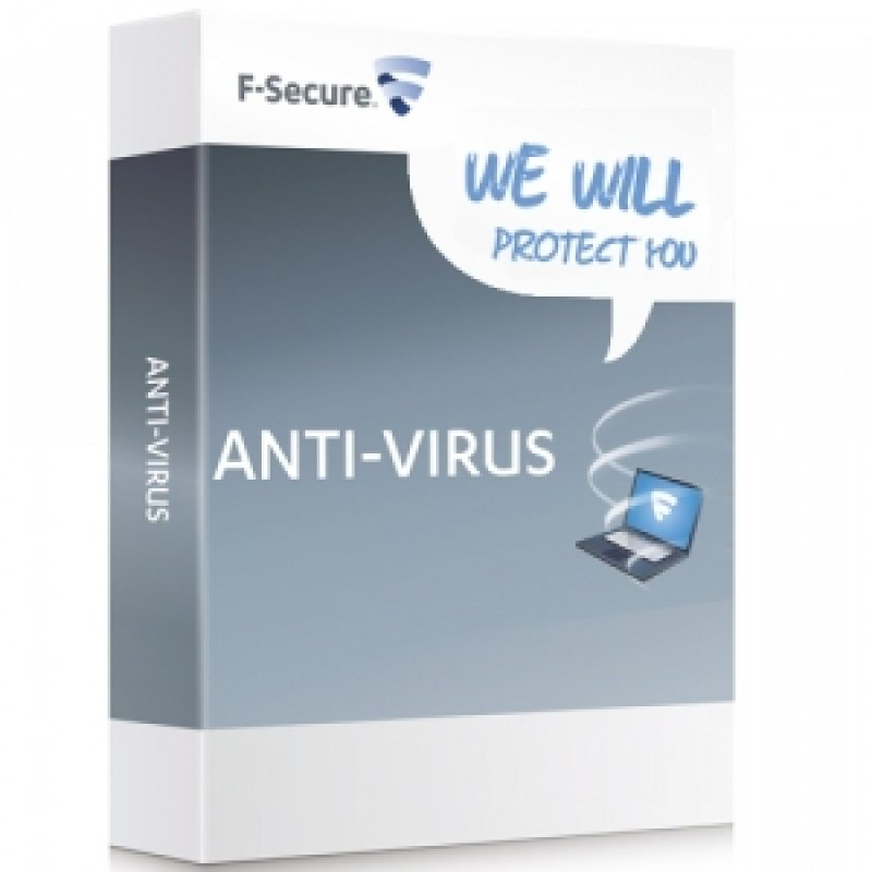 Fsecure AntiVirus PC & Mac (1 year 3 User) Electronic Software Download