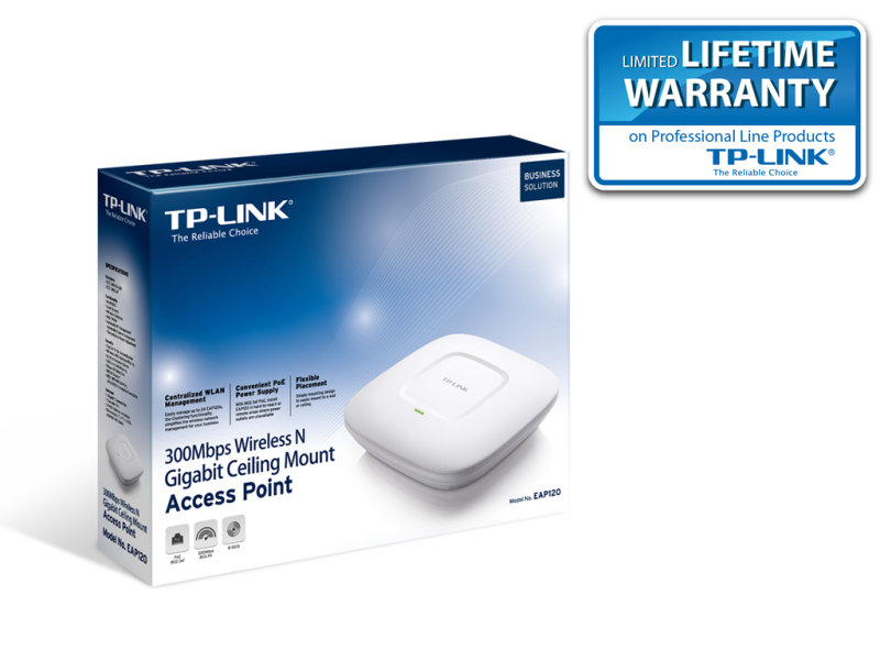 TP-Link EAP120 - 300Mbps Wireless N Gigabit Ceiling Mount Access Point