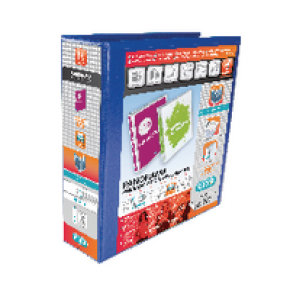 Elba Panorama A4 Presentation Binder 4D-Ring 65mm Blue (Pack of 4)