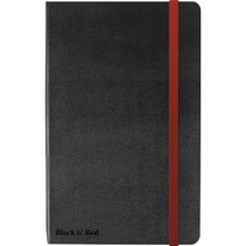 Black n Red Soft Touch A4 Notebook