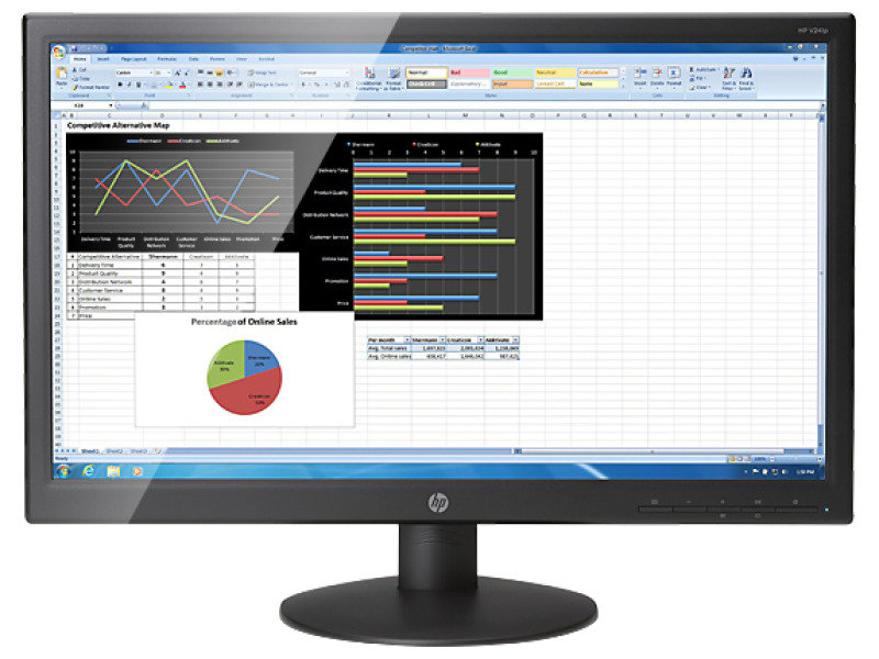 "HP V241P 23.6"" Full HD LED Monitor"