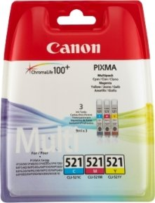 Canon CLI-521 C/M/Y Multi Pack Ink Cartridge