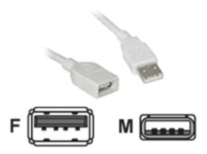 C2G, USB A Male to A Female Extension Cable, 1m
