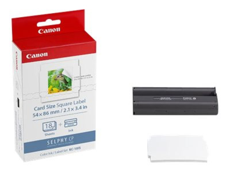 Canon KC-18IS print ribbon cassette and paper kit