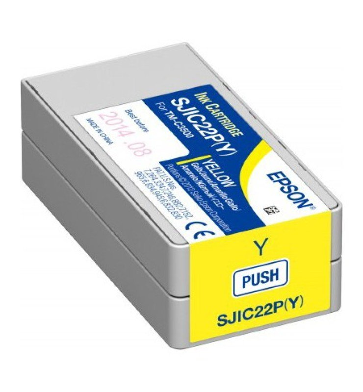 Epson SJIC22P Y Ink cartridge TM-C3500 - Yellow