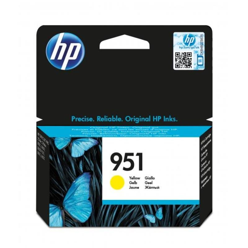 HP 951 Yellow Officejet Ink Cartridge  CN052AE