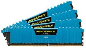 Corsair Vengeance LPX 16GB (4 X 4GB) Memory Kit PC4-21300 2666MHz DDR4 Dimm Class 16 (Blue) Memory