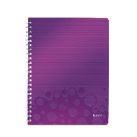 *Leitz Wow Notebook A4 Pp Ruled Purple
