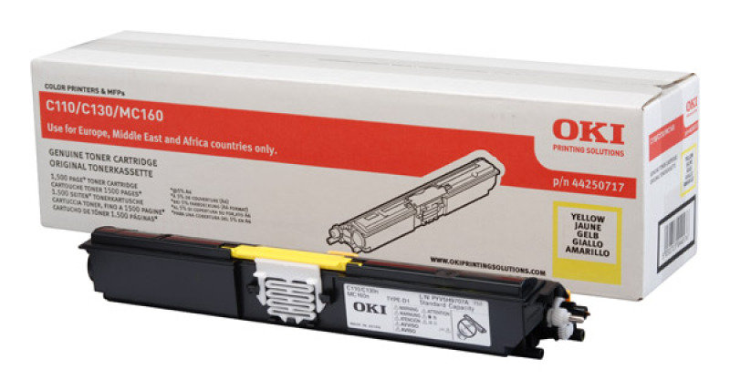 OKI 44250717 Yellow Toner Cartridge