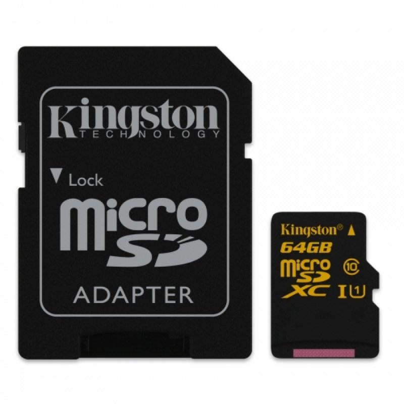 Kingston Technology 64GB MicroSDXC Memory Card with Adapter