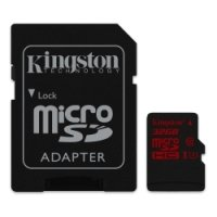 Kingston Technology 32GB MicroSDHC UHS-I Memory Card With Adapter