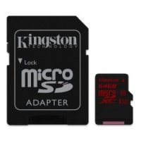 Kingston Technology 64GB Micro SDHC UHS-i - Speed Class 3 90r/80w With Adapter