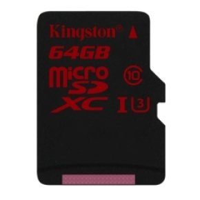 Kingston Technology 64GB MicroSDHC UHS-I Memory Card