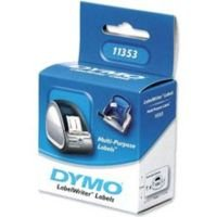 DYMO LabelWriter MultiPurpose - Permanent adhesive labels - white - 12 x 24 mm - 1000 label(s) ( 1 roll(s) x 1000 )