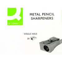 Q Connect Metal Pencil Sharpeners - 20 Pack