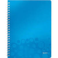 Leitz Wow Notebook A4 Ruled Blue