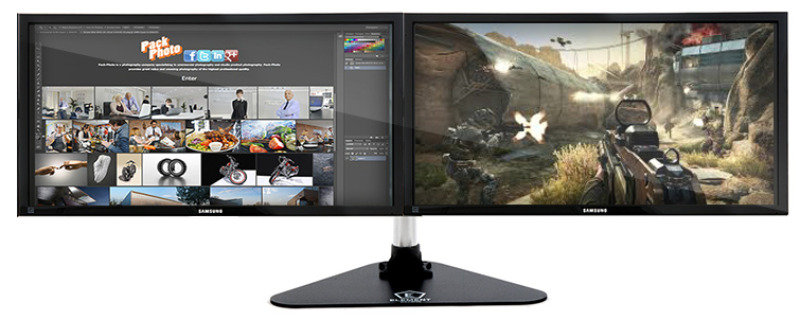 Element Gaming Dual Deskmount with Stand - Ebuyer