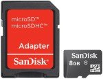 SanDisk 8GB Micro SDHC Card with Adapter