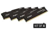 HyperX Fury Black 16GB (4x4GB Kit) 2133MHz DDR4 Non-ECC CL14 DIMM Memory