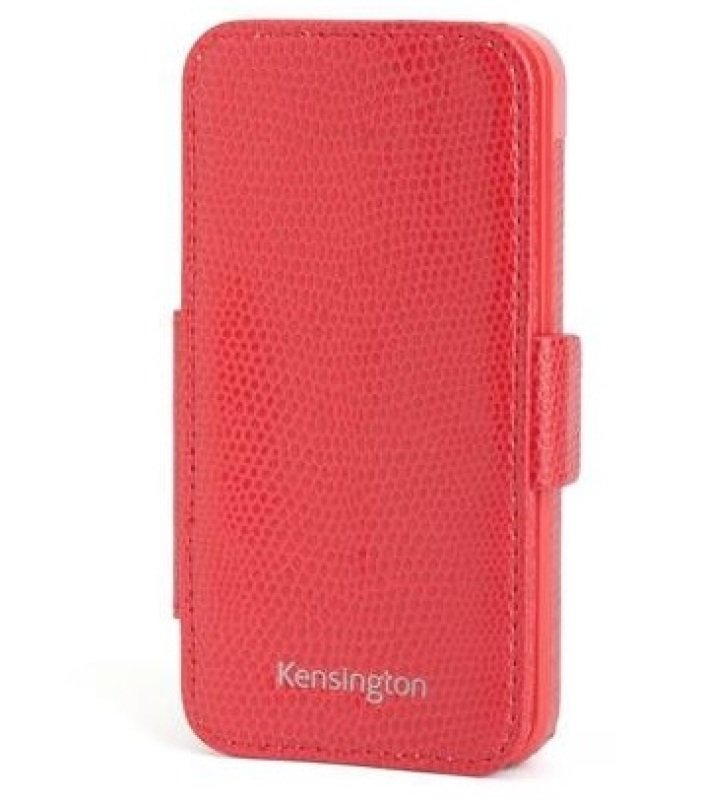 Image of Kensignton Folio Wallet for iPhone 5 - Red Snake -- Doubles as Stand