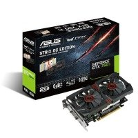 Asus GeForce GTX 750 Ti Strix OC 2GB GDDR5 DVI HDMI DisplayPort PCI-E Graphics Card