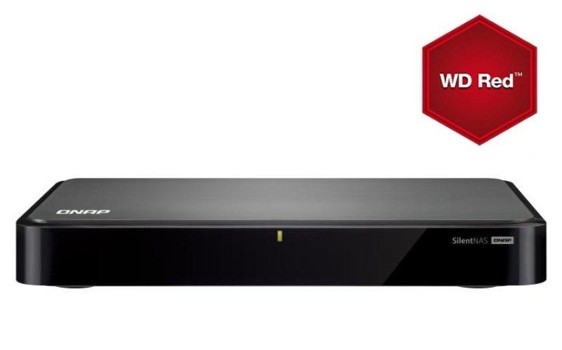 QNAP HS210 6TB (2 x 3TB WD Red) 2 Bay Slimline NAS