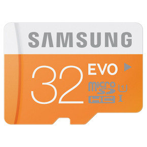 Samsung MicroSDHC 32GB EVO Memory Card with Adapter