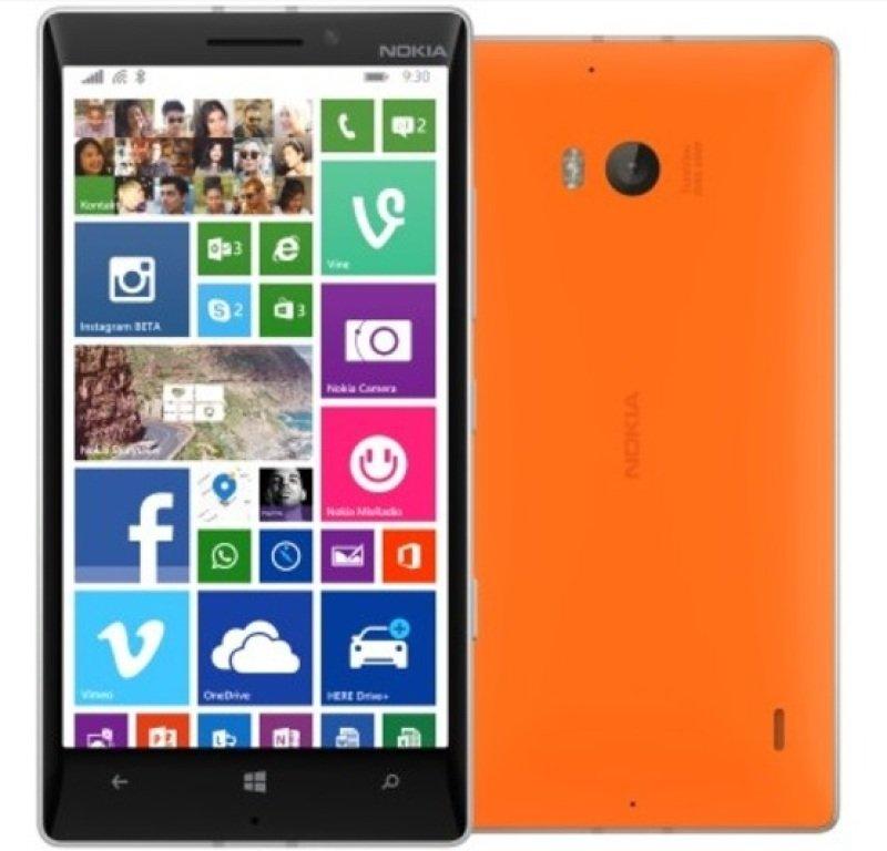 "Nokia Lumia 930 Smartphone Sim Free Windows 8.1  Orange  5"" LCD 32GB EMMC"