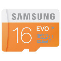 Samsung MicroSDHC 16GB EVO Memory Card with Adapter - MB-MP16D