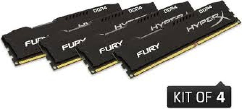 HyperX Fury Black 16GB (4x4GB Kit) 2400MHz DDR4 Non-ECC CL15 DIMM