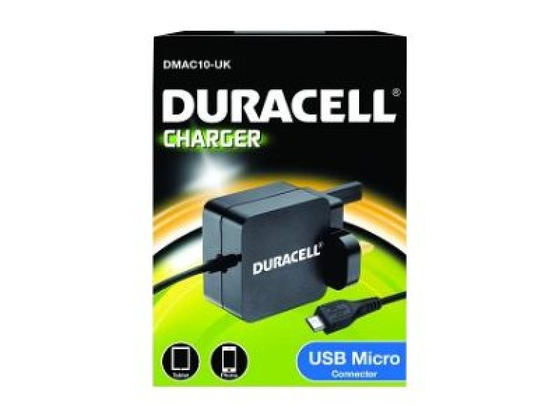 Image of Duracell Micro 2.4 AMP USB Charger - Smartphone And Tablet Charger