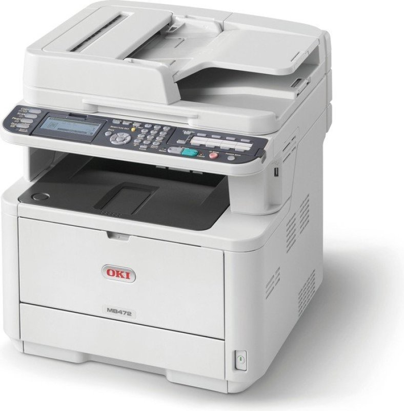 OKI MB472dnw A4 MultiFunction Wireless Mono Laser Printer