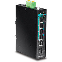 Trendnet TI-PG541 - 5 port Hardened Industril Switch - Gigabit PoE+ DIN-rail