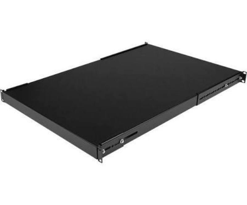 Startech 1u 19 Inch Adjustable Rack Mount Shelf - Heavy Duty Fixed Server Rack Cabinet Shelf (80kg)
