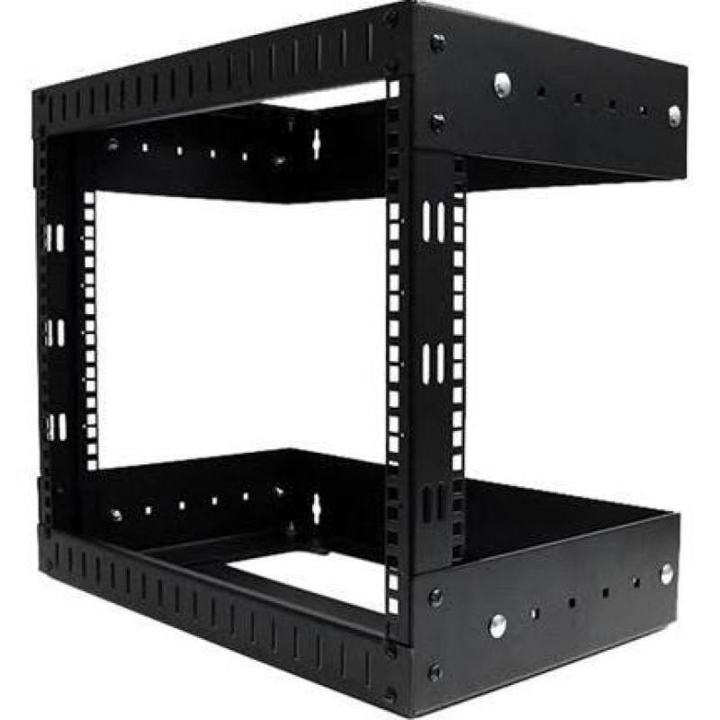 Startech 8U Open Frame Wall Mount Equipment Rack - Adjustable Depth