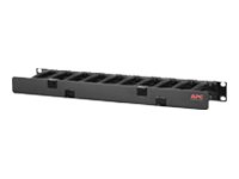 Horizontal Cable Manager, 1U x 4 Deep, Single-Sided with Cover