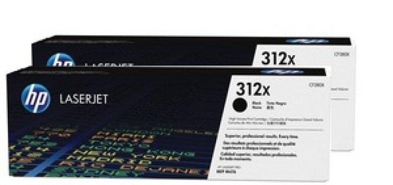 HP 312X High-Yield Black Toner Cartridge - Dual Pack - CF380XD