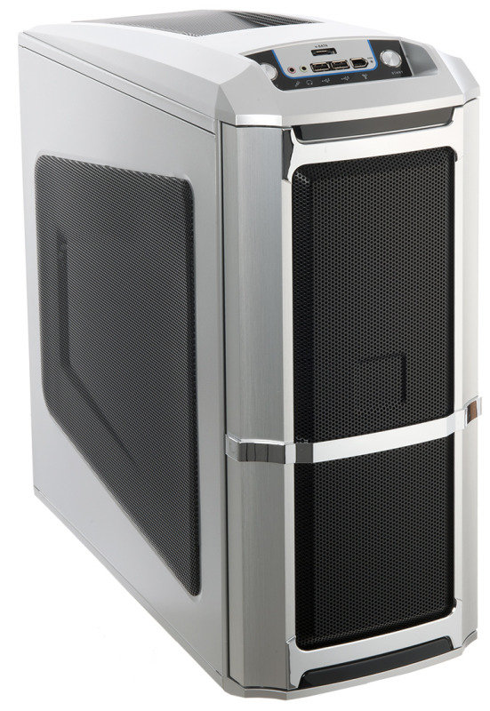 Image of 6XR9 Computer Mid tower ATX Gaming Case Silver
